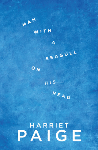 The cover of 'Man with a Seagull on his Head' by Harriet Paige.